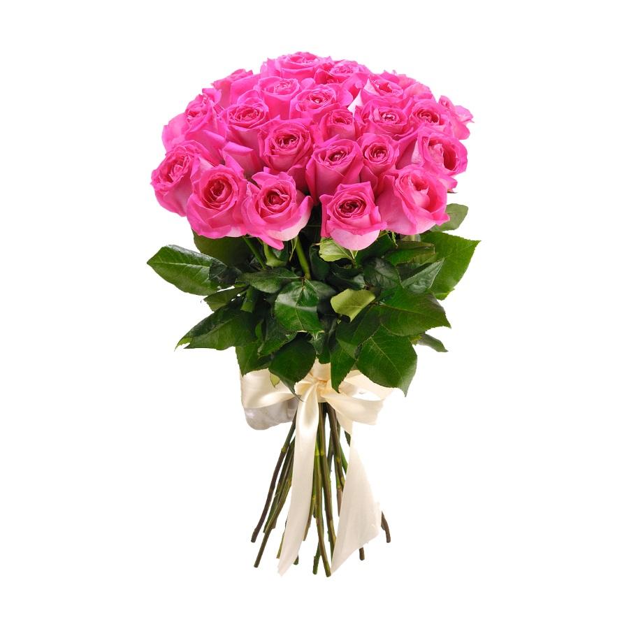 Букеты роз из 11 розовых